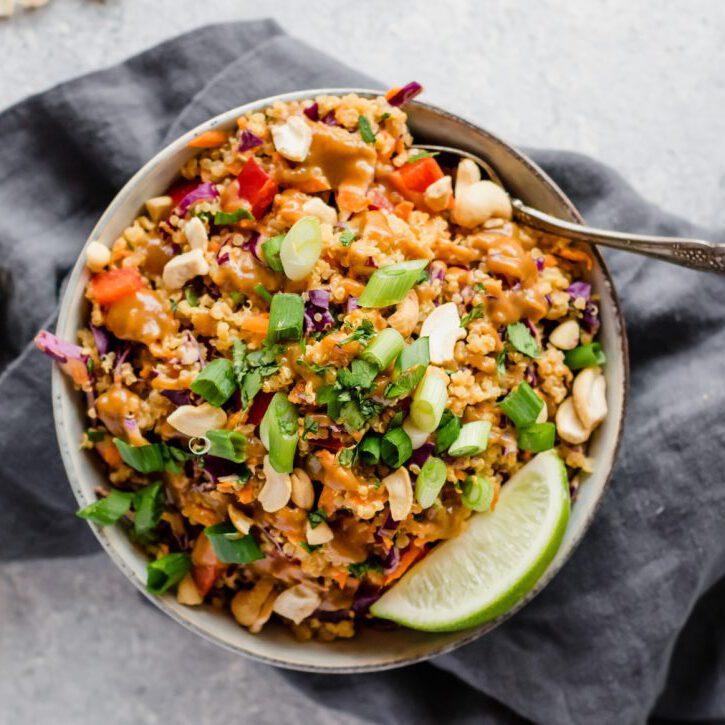 vegan recept - quinoa recept - recepten - thaise recepten - thais eten - vegan gerechten - vegan recepten - veganistische gerechten - veganistische recepten - vegan