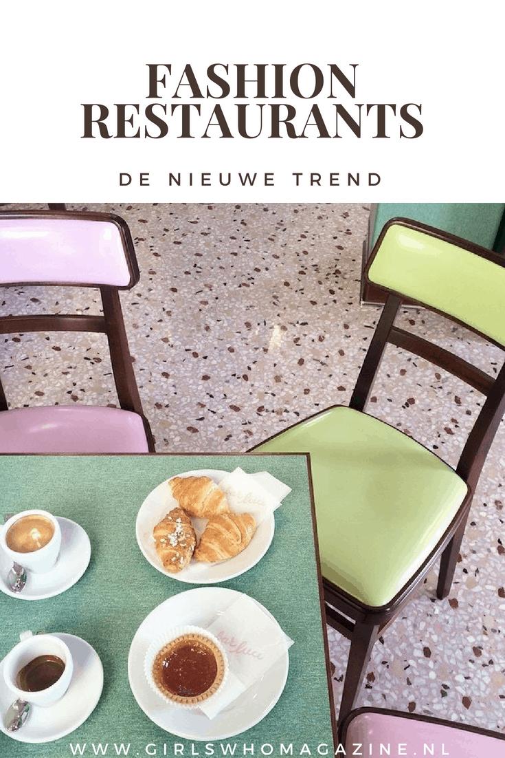 Hier vind je fashion restaurants, de nieuwe trend op restaurant gebied. Gucci heeft zelfs zijn eigen restaurant. #fashionrestaurant #hotspot #restaurantdesign