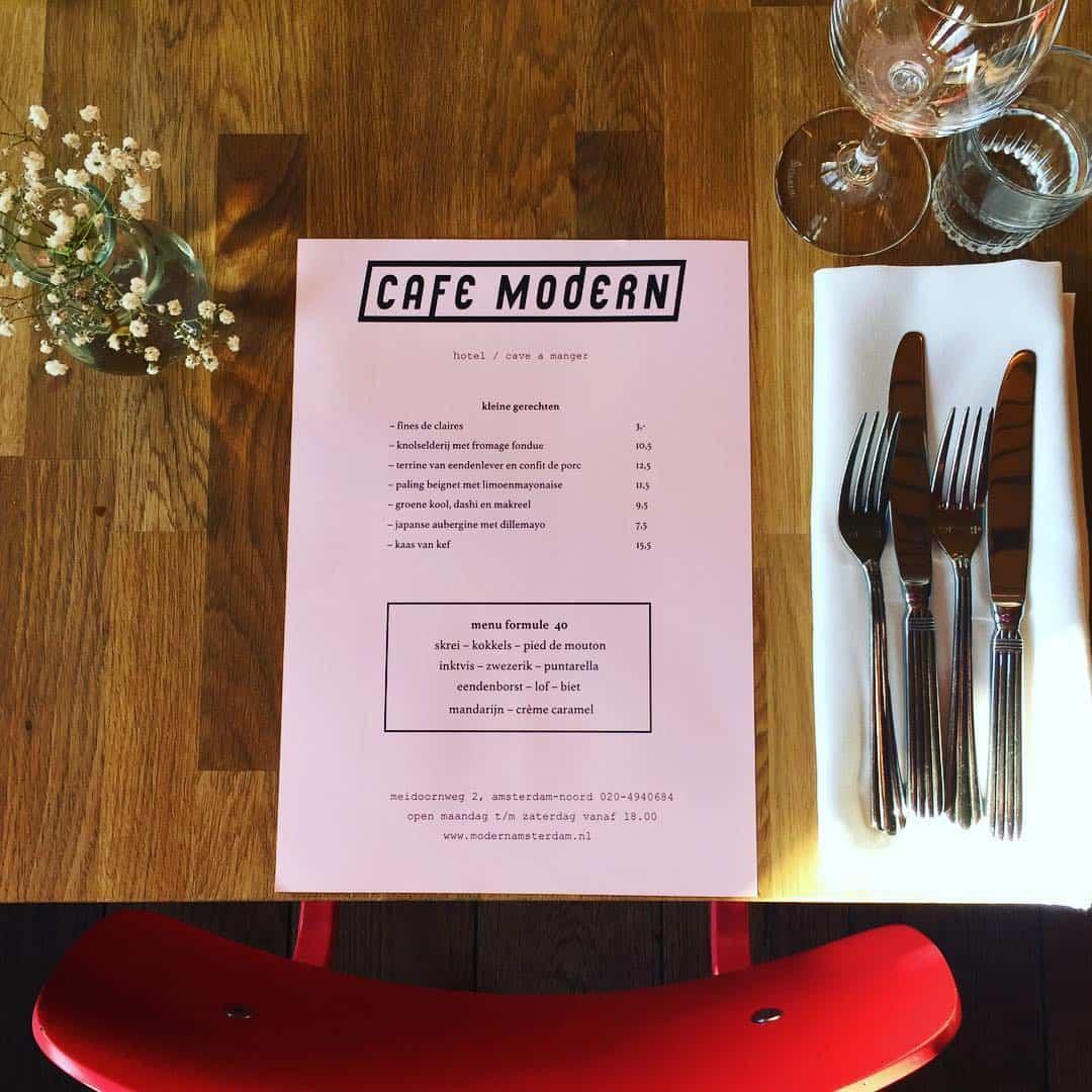 cafe modern amsterdam