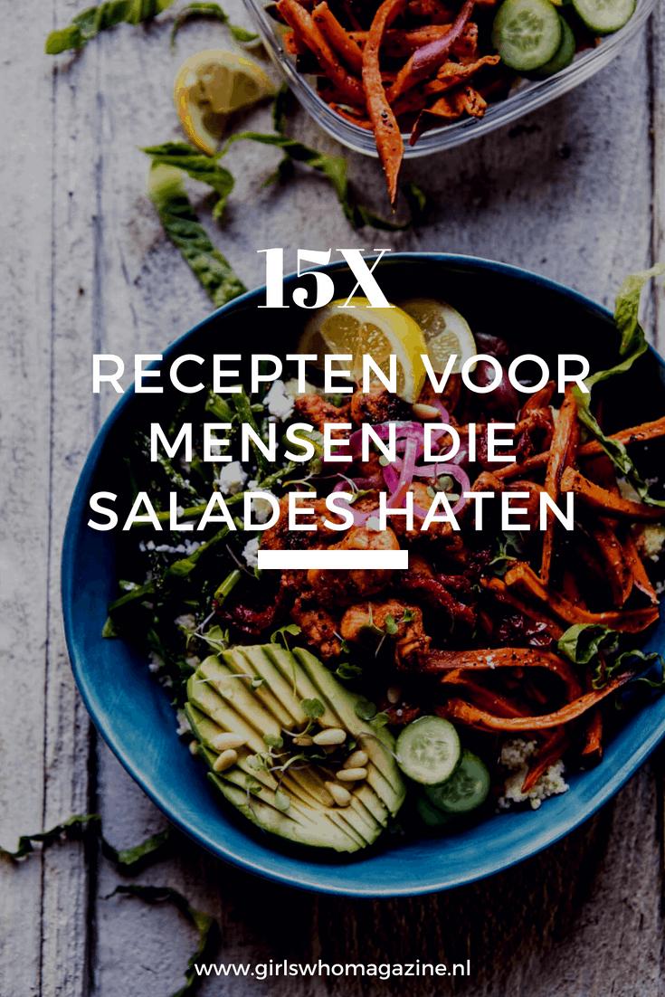 Ben je klaar met de salades? Wij hebben 15 X de lekkerste gezonde recepten voor je die je net zo gemakkelijk als een salade kan klaar maken! #geensalade #gezondrecept #gezondeten