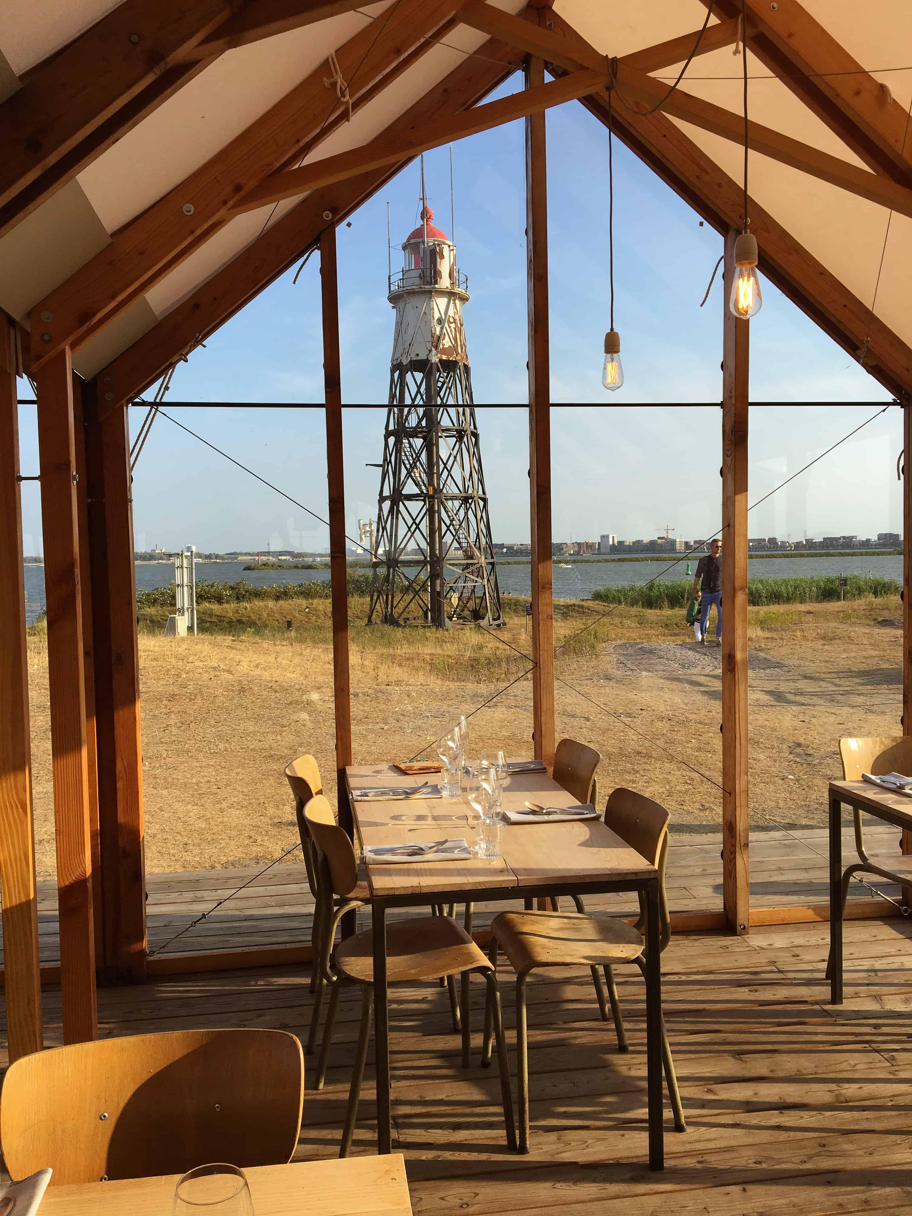 Vuurtoreneiland is een klein eilandje in het IJmeer net voor IJdoorn en Durgerdam. Het werd in 1701 aangelegd en lang waren de vuurtoren (de enige in Amsterdam) en het bijbehorende wachtershuisje de enige bewonder van het eiland. Maar, in 2013 werd er door Staatsbosbeheer een herbestemming gezocht voor het eiland en werd er besloten een restaurant te beginnen in een grote lichte kas midden op het eiland. Inmiddels is het restaurant een groot succes.