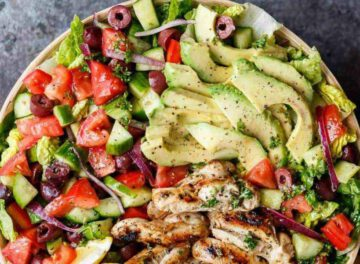 mediterrane recepten - mediterraans recept - salade recepten - recepten met kip - kip recept - salade recept