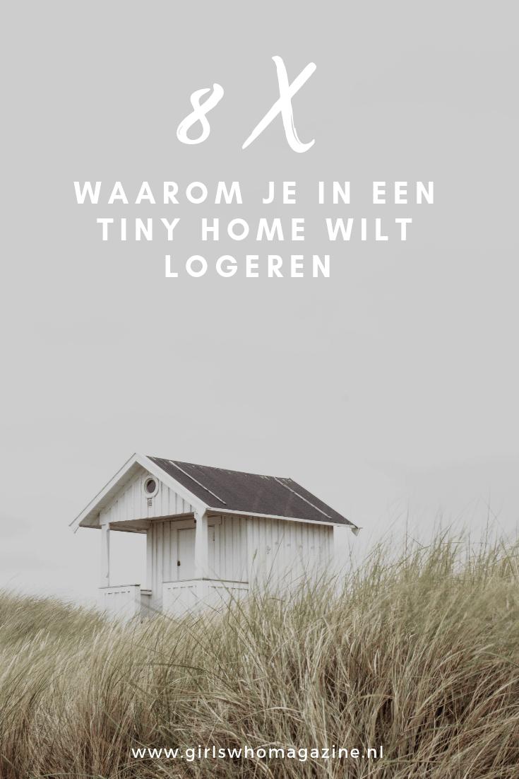 Het fenomeen 'tiny house' is je waarschijnlijk niet ontgaan. Het is hip and happening, en als je een beetje bezig bent met bewust leven dan heb je er vast wel eens aan gedacht hoe het zou zijn om in een tiny house te wonen. Tegenwoordig kun je deze kleine huisjes ook huren voor een aantal dagen, en wij geven je 8 redenen waarom je zeker weten een keer moet logeren in een tiny house!