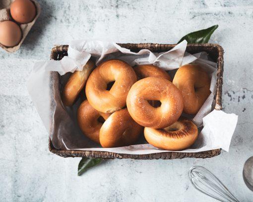 bagel recepten // bagel toppings // lekkere bagels // gezonde bagels // vegetarische bagels // zoete bagels // thuis bagels maken // beleg bagels