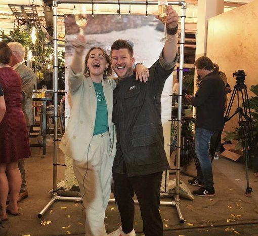 finale hermans pop up restaurant - herman den blijker - kiki bosman - telegraaf - interview - winnaarts hermans pop up - kiki bosman