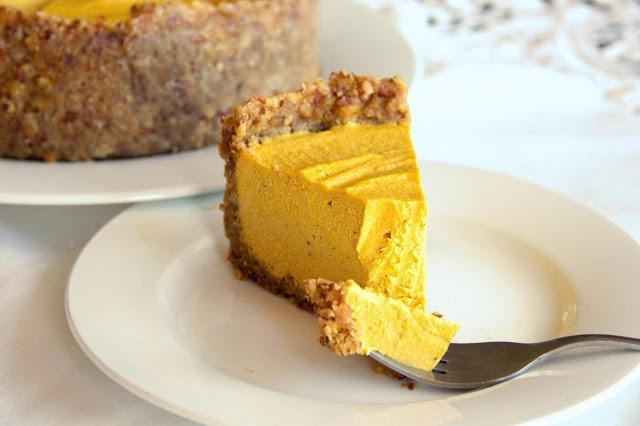 vegan cheesecake - vegan taart maken - vegan recepten - zoete vegan recepten - zoet gebak vegan - vegan gebak - veganistische taarten - pumpkin cheesecake
