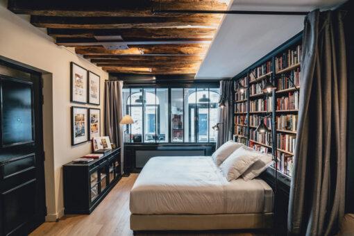 hotels parijs - overnachten parijs - overnachten boekenwinkel - bijzonder overnachten parijs - slapen in parijs - accommodatie parijs - overnachting parijs