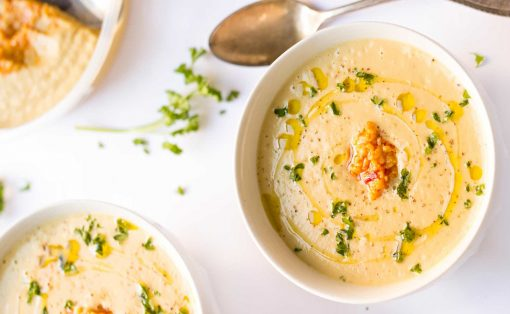 soep recepten - soep maken - bloemkoolsoep - geroosterde bloemkoolsoep - soep gerechten