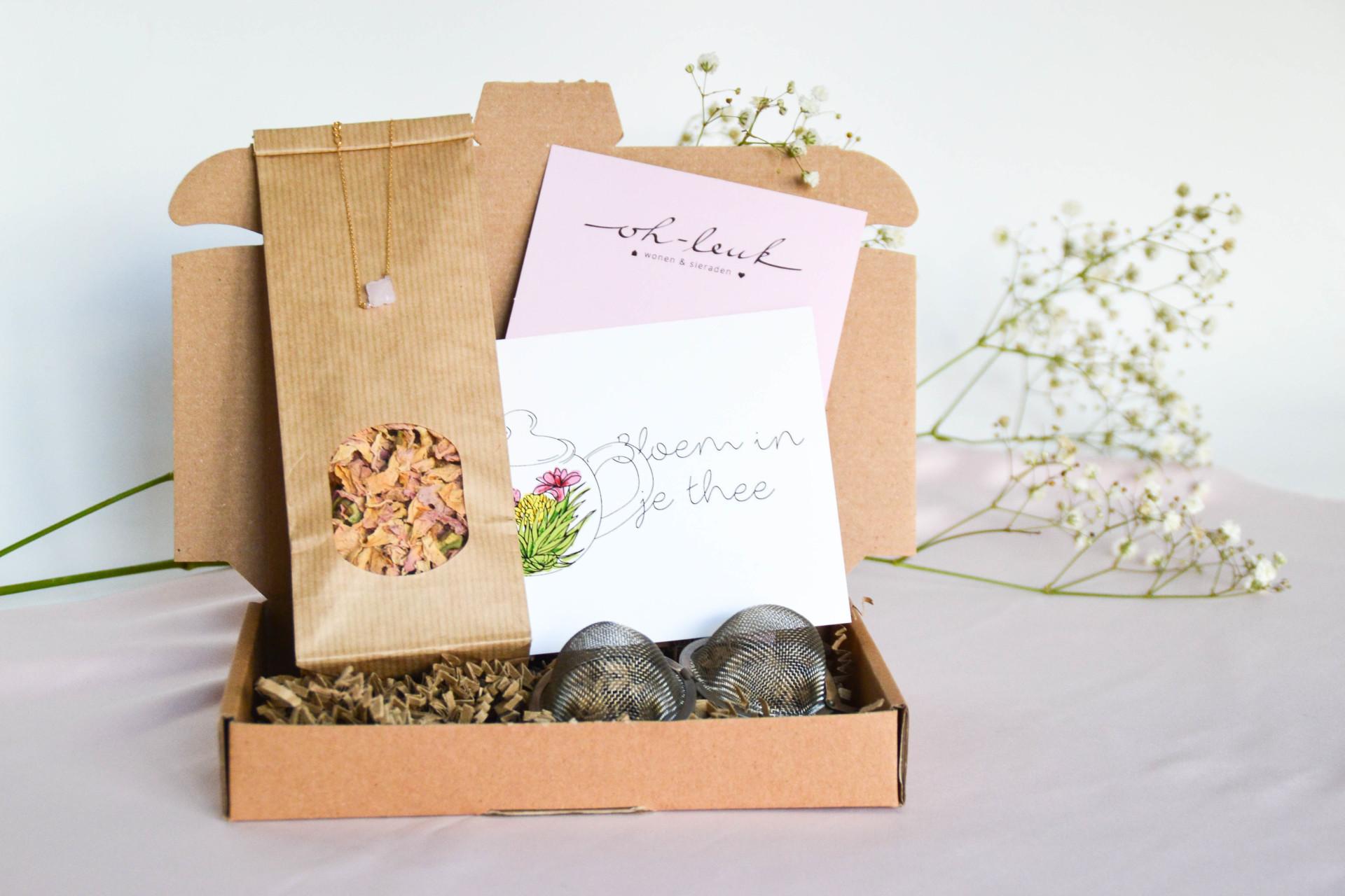 brievenbus cadeau - cadeaus per post - cadeaus door de brievenbus - thee cadeau