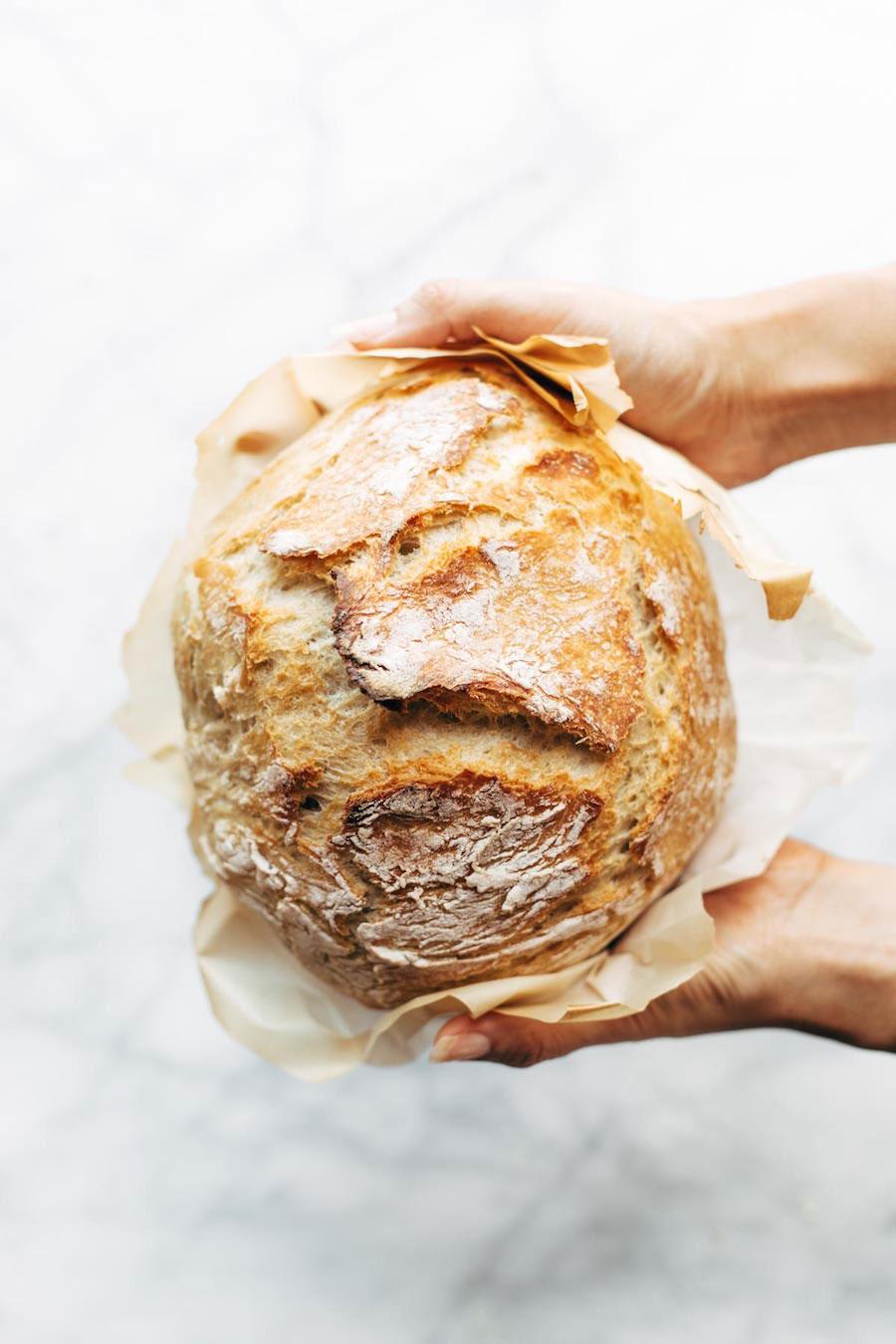 brood maken - brood bakken - brood recept - no knead brood