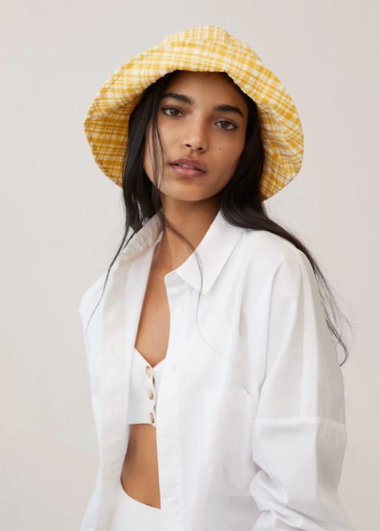 haaraccessoires - haar accessoires - leuke accessoires - leuke haar accessoires - lente accessoires - gekleurde bucket hat - gele bucket hat