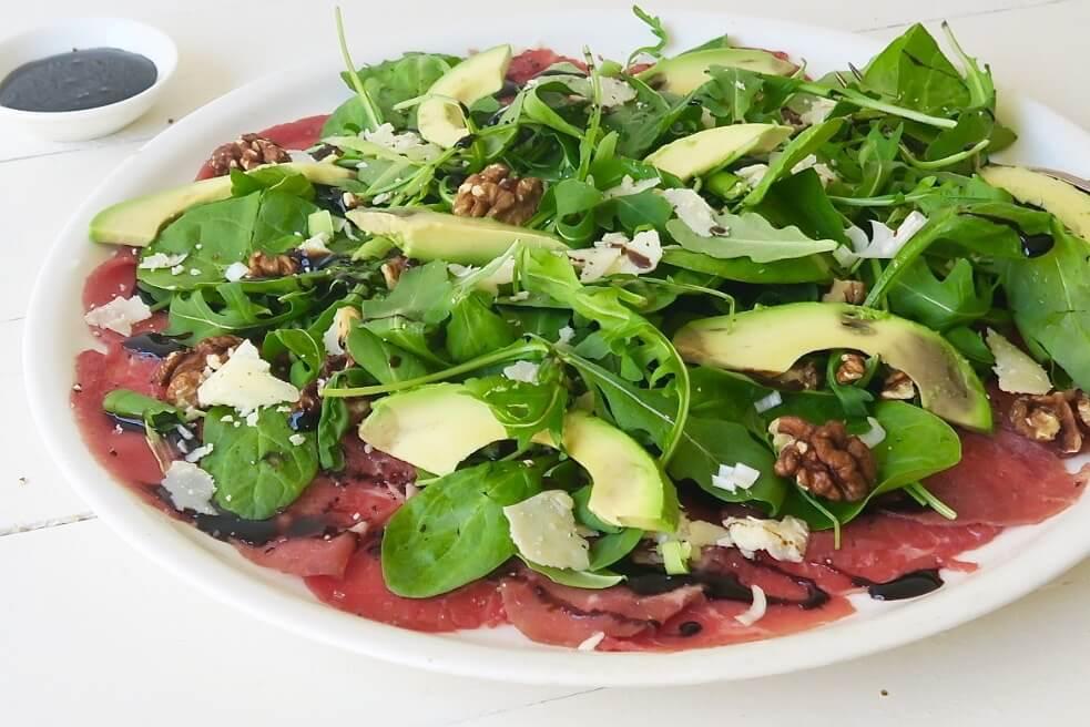 carpaccio - carpaccio recepten - carpaccio gerechten - carpaccio wrap - carpaccio variatie - carpaccio salade