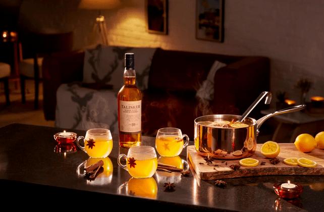 Talisker made by the sea- recepten met whiskey - Taliskey 10 year old - talisker destillery - goede whiskey - Talisker, de enige Single Malt whisky van het eiland Skye: een warm welkom van een wilde zee -- winterse cocktail recepten