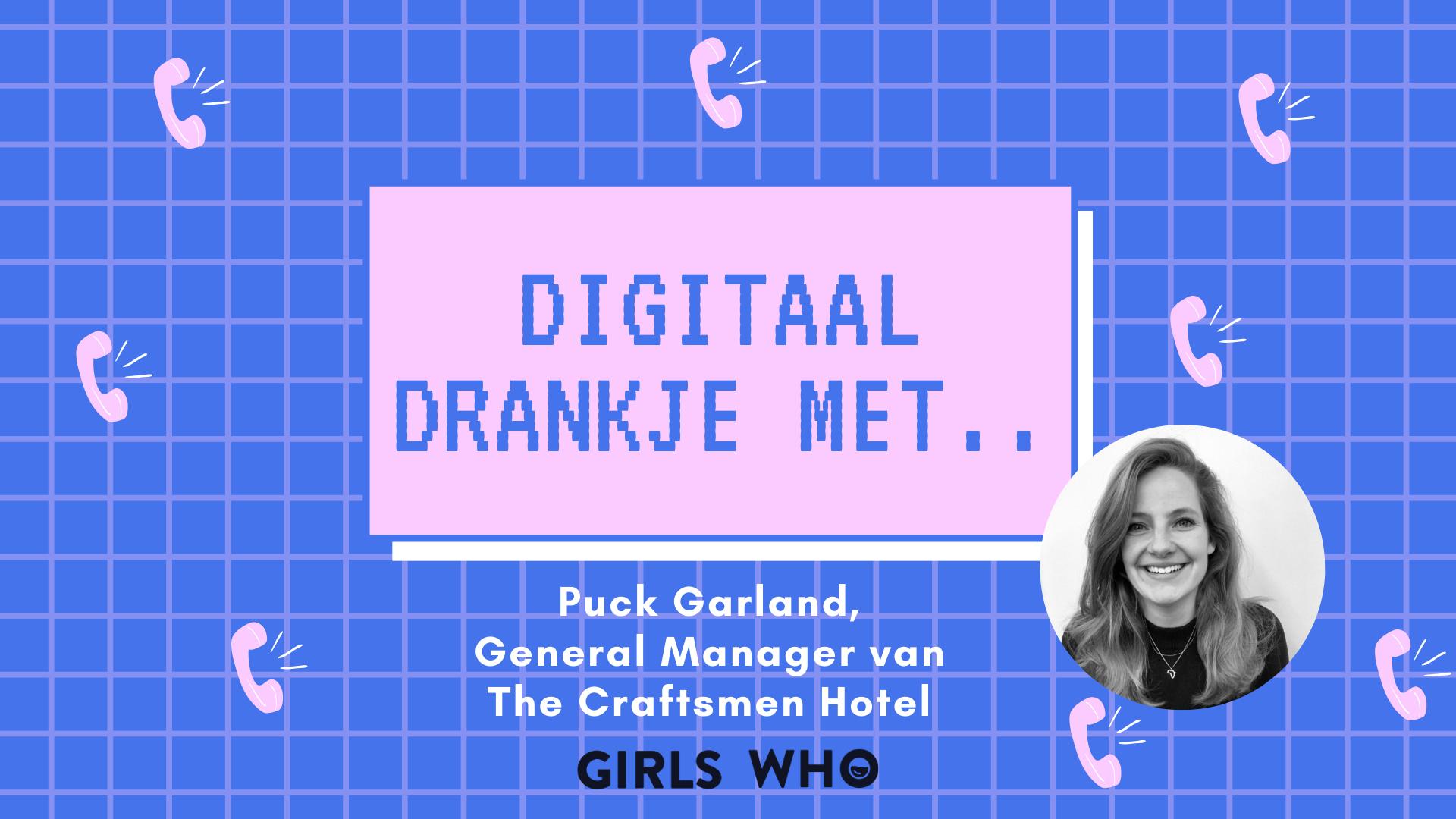 digitaal drankje met = puck garland - the craftsman hotel - the student hotel