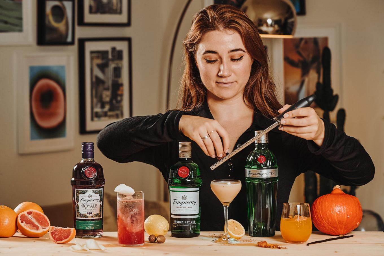 herfstcocktail - herfst drankje - origineel drankje voor in de herfst - herfst cocktail - cocktails met tanqueray - herfstdrankjes met alcohol