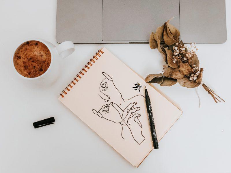 tekeningen maken thuis - zelf tekeningen maken - makkelijke tekeningen maken - tekenen tips voor beginners - oog tekenen - minimalistische tekeningen