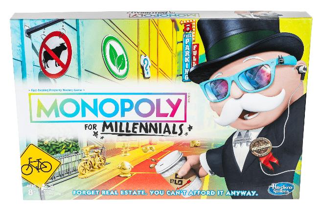 monopoly millennials - spellen spelen - bordspelletjes - monopoly spelen - spellen