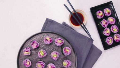 paarse sushi - sushi - sushi recept - sushi variatie