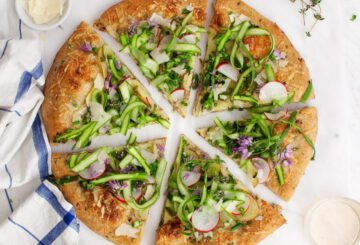 gezonde pizza recepten - gezond pizza recept - koolhydraatarme pizza recepten - glutenvrije pizza recepten - vegan pizza recepten - pizza met bloemkoolbodem - weinig kcal - weinig koolhydraten