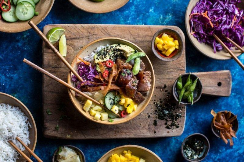 poke bowl - poke bowl recept - sushi bowl - sushi bowl recept - recepten met tonijn - poke bowl tonijn