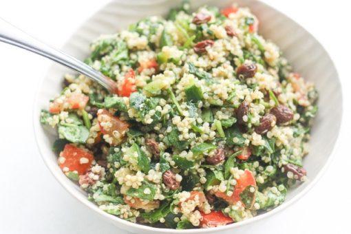 salade recepten - salade gerechten - powersalade - recepten met quinoa - recepten met spinazie