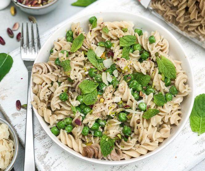 recept fusilli - fusilli recepten - fusilli erwten recept - pasta recept met erwten - pasta met doperwten - vega pasta recept erwten - recept volkoren rijst fusilli