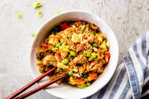 recept gebakken rijst - recept rijst - recept met kip - kip recepten - gebakken rijst - gebakken rijst maken