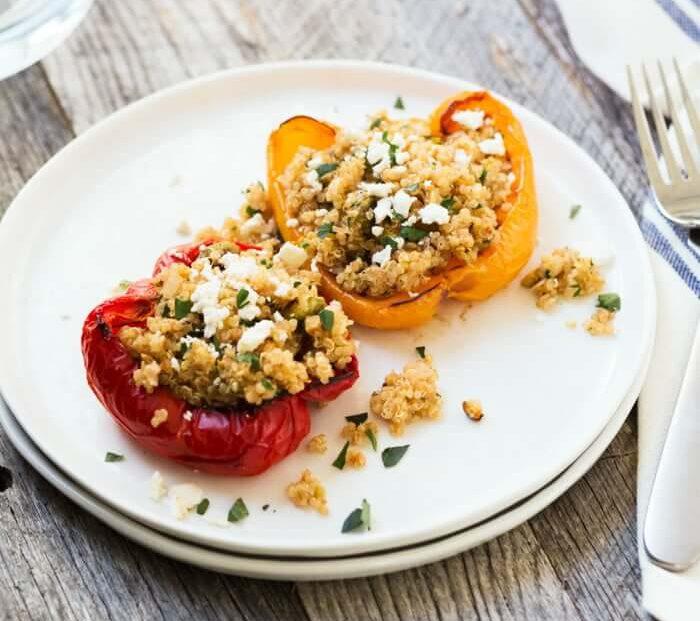 gevulde paprika recepten - gevulde paprika - recept gevulde paprika - gezonde recepten - makkelijke recepten - recepten met paprika - recept quinoa - quinoa recepten