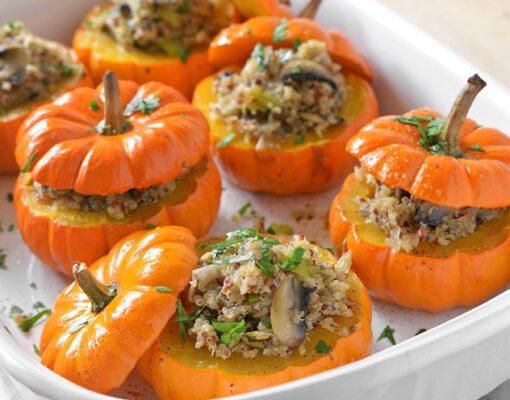 recept gevulde pompoen - gevulde pompoen recepten - pompen recept - pompoen recepten - quinoa recept - champignon recpept - herfst recepten - herfst recept