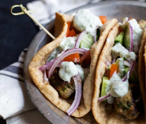 recept gyros - griekse recepten - gezonde recepten - mediterrane recepten - gyros wrap - wrap recept