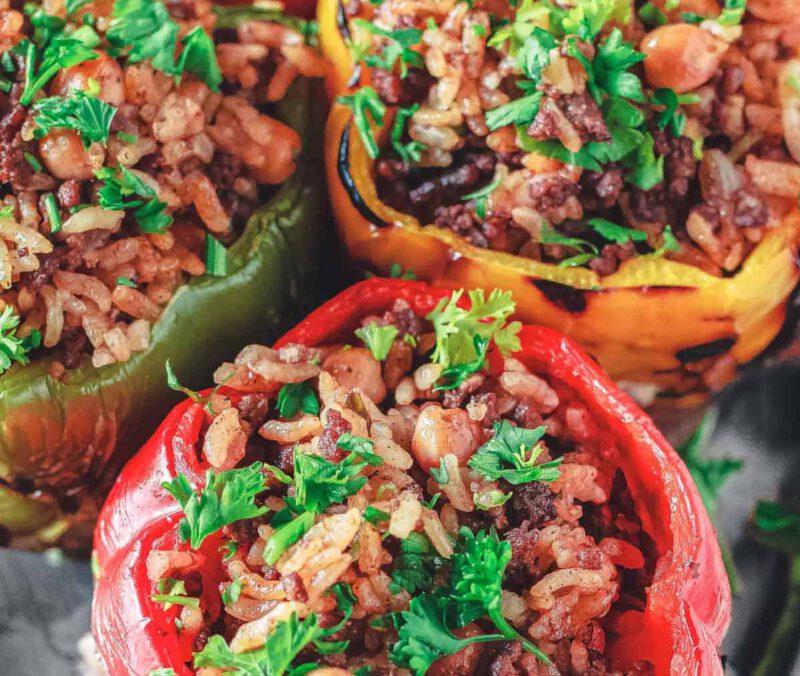 mediterrane recepten - grieks recept - gezonde recepten - makkelijke recepten - gevulde paprika recept - simpele gerechten