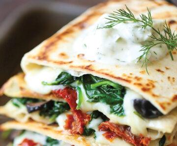 recept quesadilla - grieks recept - griekse recepten - vegetarische recepten - vega recept - gezonde recepten - grieks eten