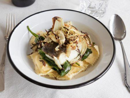 recept kabeljauw - ravioli met vis - recept ravioli kabeljauw - recept ravioli pastinaak - vis recepten - vis gerechten - recept met kabeljauw - kabeljauw maken