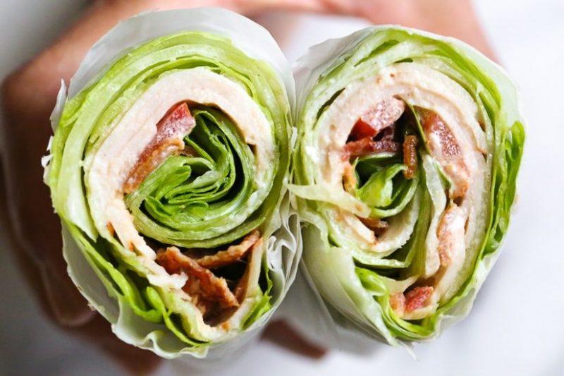 keto recept - keto recepten - keto dieet - sla wrap - recept sla wrap - club sandwich recept - club sandwich wrap