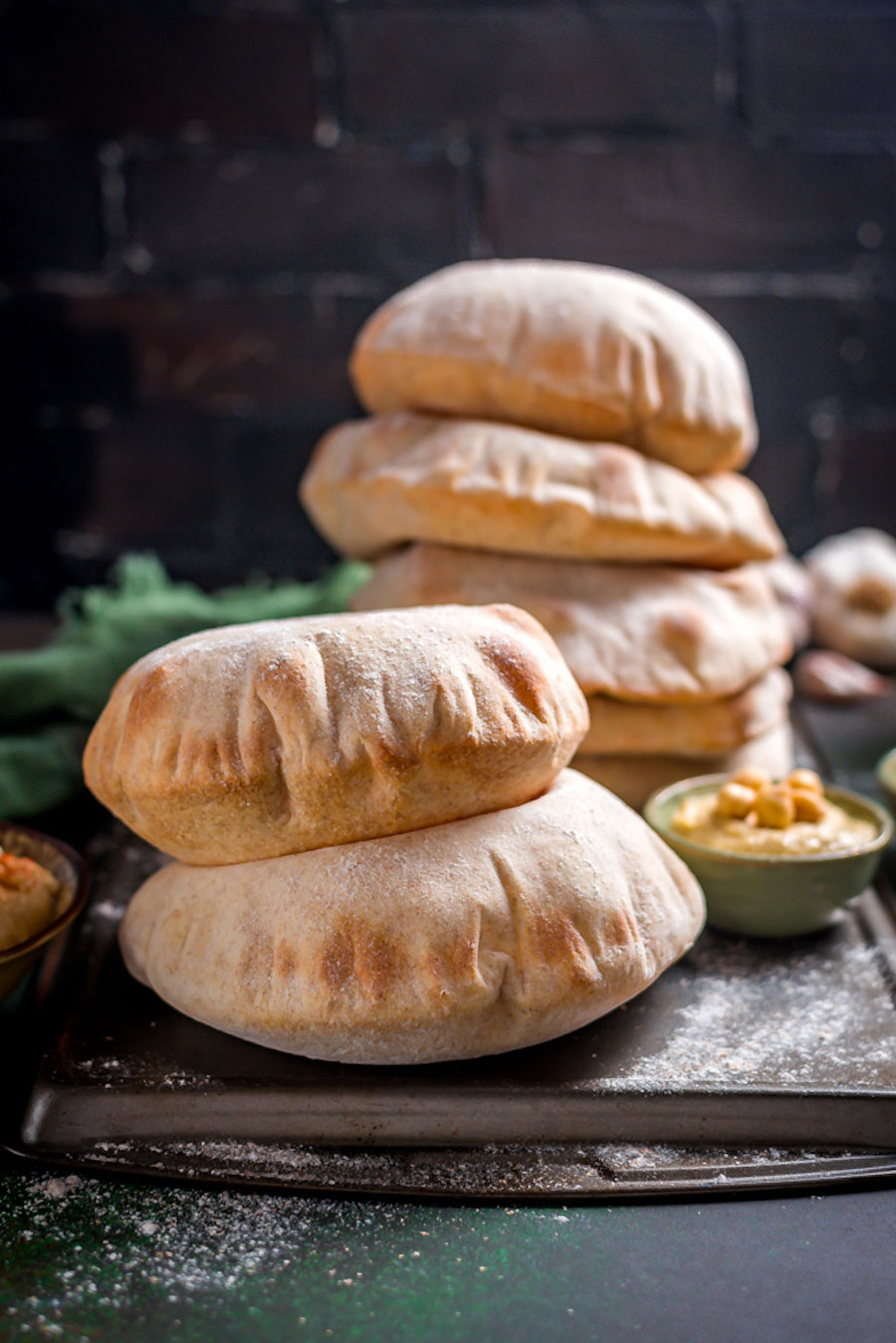 pita maken - pita broodjes maken - pita brood bakken - pita brood recepten