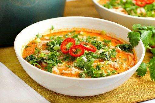 recept thaise kippensoep - soep recepten - thaise soep recept - thaise noedle soep recept