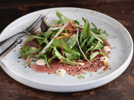 recept tonijncarpaccio - tonijncarpaccio - tonijncarpaccio maken - carpaccio van tonijn - carpaccio vis - tonijncarpaccio oosters