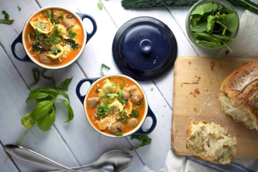 recept toscaanse soep - recept tortellini soep - recept soep met worst - recept soep met vlees - recept italiaanse soep - recept tortellini soep worst - recept soep toscane