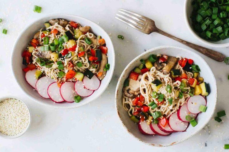 vegetarisch recept - vegetarische recepten - vegetarisch gerecht - recept noodles - gezonde recepten - gezonde gerechten