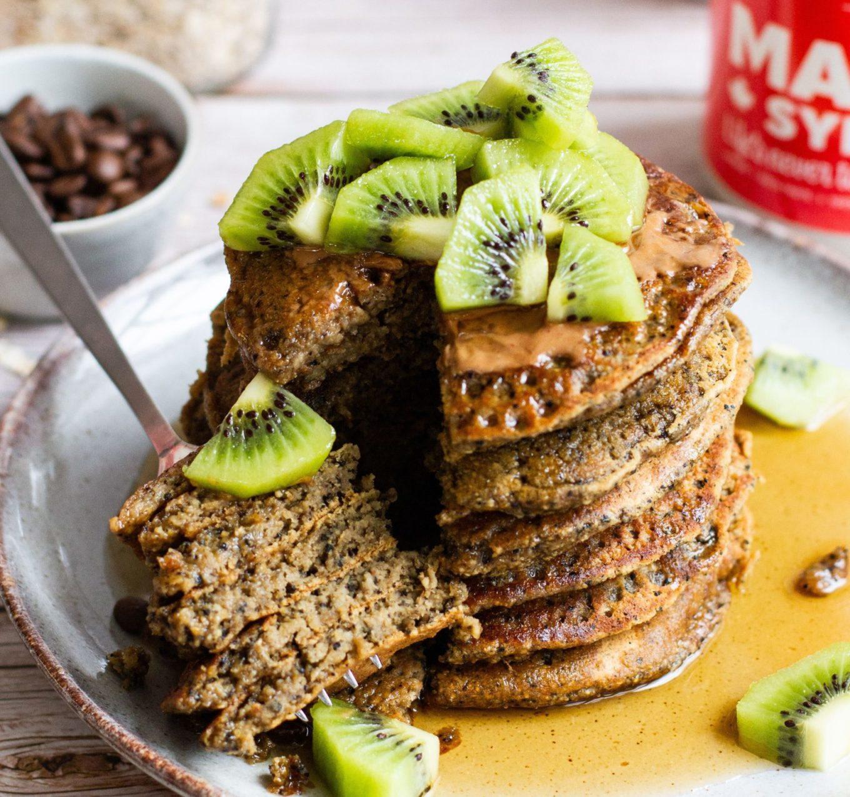 recept zero waste pancakes - zero waste recept - recept met koffiedik - zero waste recept koffiedik - gezonde vegan pancakes - vegan pancakes - vegan pancake - pancakes met koffiedik