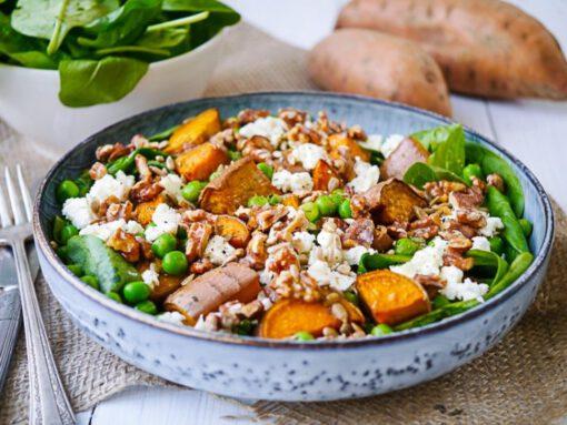 zoete aardappel recepten - salade recepten - gezonde recepten - makkelijke recepten - recept gevulde zoete aardappel - recept gebakken zoete aardappel - recept zoete aardappel uit de oven - zoete aardappel recepten - koken met zoete aardappel - gepofte zoete aardappel - zoete aardappel friet - recept zoete aardappel - zoete aardappel gezond - zoete aardappel salade