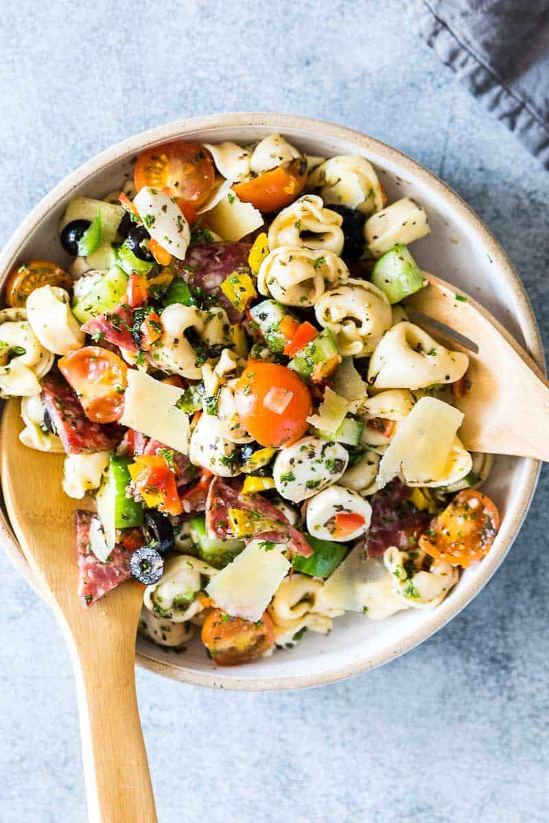 bbq salade // italiaanse salade recept