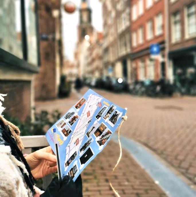 streetart jordaan - street art amsterdam - street art wandeling amsterdma - wandeling door de jordaan - piet parra