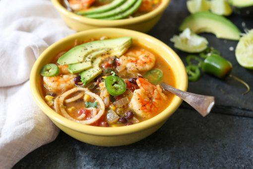 soep recept - pittige soep recept - soep met garnalen - recept met garnalen