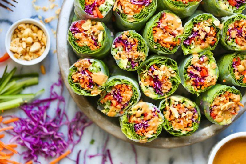spring rolls recepten - groenten spring rolls - recept met groenten - groente recept - vega recepten - vegetarische - vegetarisch