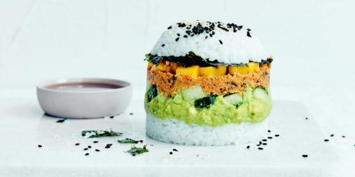 sushi burger - sushi maken - vega gerecht maken - vega recept - sushi recept - vegetarisch recept