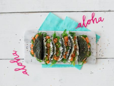 recept sushi taco recept - sushi poke taco - sushi taco recept