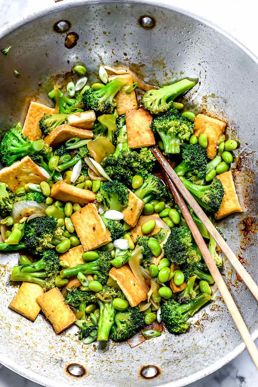 tofu - wok - wokken - tofu gerecht