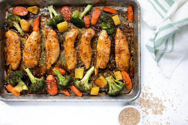 recept teriyaki kip groenten - teriyaki kip - kip recepten - kip recept - groente recepten - recept met groenten - gezonde recepten - makkelijke recepten