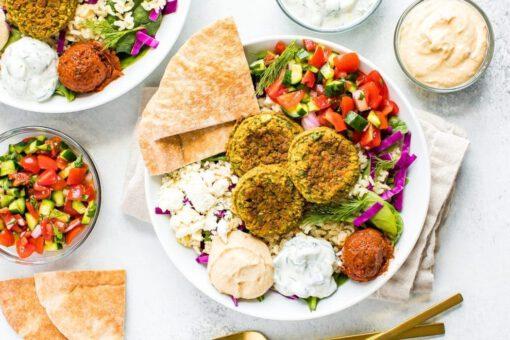 falafel recept - falafel bowl - recepten met falafel - makkelijke recepten - gezonde recepten - vegetarische recepten - vegetarische gerechten - vegetarische lunch - lunchrecepten - makkelijke recepten - makkelijke lunchgerechten